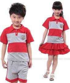 GLU Dong Phuc Mam Non MN55 áo thun đồng phục
