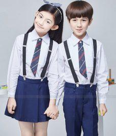 GLU Dong Phuc Mam Non MN65 áo sơ mi đồng phục