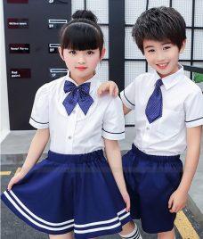 GLU Dong Phuc Mam Non MN66 áo sơ mi đồng phục