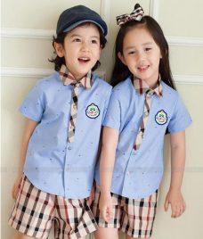 GLU Dong Phuc Mam Non MN67 áo sơ mi đồng phục