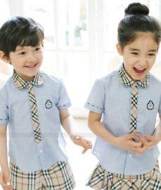 GLU Dong Phuc Mam Non MN68 áo sơ mi đồng phục