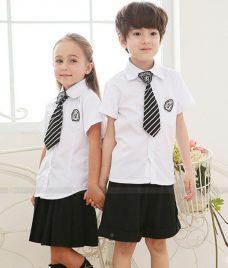 GLU Dong Phuc Mam Non MN74 áo sơ mi đồng phục