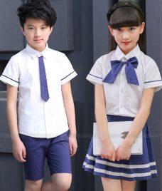 GLU Dong Phuc Mam Non MN75 áo sơ mi đồng phục