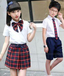 GLU Dong Phuc Mam Non MN76 áo sơ mi đồng phục