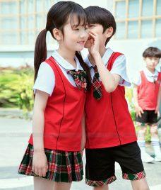 GLU Dong Phuc Mam Non MN77 áo sơ mi đồng phục