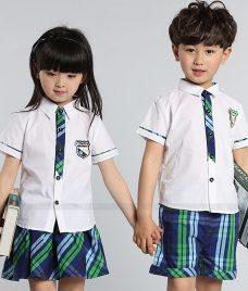 GLU Dong Phuc Mam Non MN78 áo sơ mi đồng phục