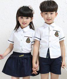 GLU Dong Phuc Mam Non MN79 áo sơ mi đồng phục