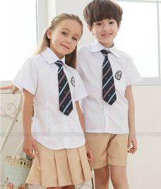 GLU Dong Phuc Mam Non MN80 áo sơ mi đồng phục