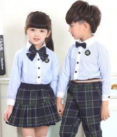 GLU Dong Phuc Mam Non MN81 áo sơ mi đồng phục