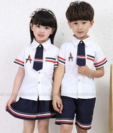 GLU Dong Phuc Mam Non MN82 áo sơ mi đồng phục