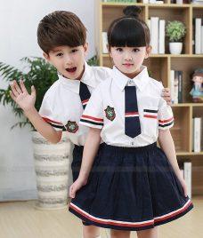 GLU Dong Phuc Mam Non MN84 áo sơ mi đồng phục