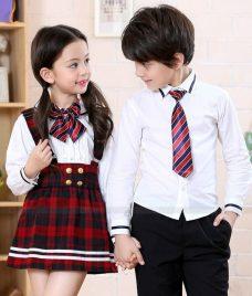 GLU Dong Phuc Mam Non MN85 áo sơ mi đồng phục