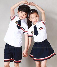 GLU Dong Phuc Mam Non MN89 áo sơ mi đồng phục