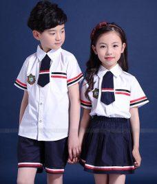 GLU Dong Phuc Mam Non MN90 áo sơ mi đồng phục