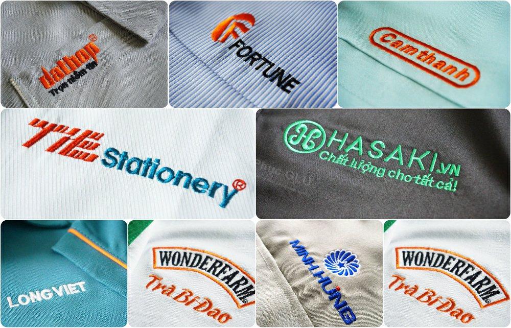 Thêu logo vi tính bằng trình thêu Wilcom, máy thêu Tajima nhật, Sunstar Hàn Quốc