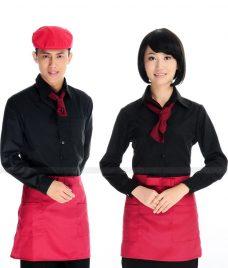 Dong phuc quan cafe GLU CF277 may áo quán cafe