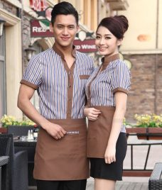 Dong phuc quan cafe GLU CF281 may áo quán cafe