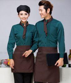 Dong phuc quan cafe GLU CF291 may áo quán cafe