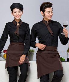 Dong phuc quan cafe GLU CF292 may áo quán cafe