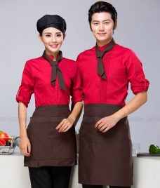 Dong phuc quan cafe GLU CF293 may áo quán cafe