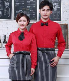 Dong phuc quan cafe GLU CF295 may áo quán cafe
