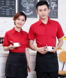 Dong phuc quan cafe GLU CF298 may áo quán cafe