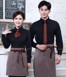 Dong phuc quan cafe GLU CF299 may áo quán cafe