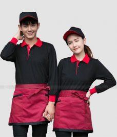 Dong phuc quan cafe GLU CF300 may áo quán cafe