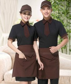 Dong phuc quan cafe GLU CF301 may áo quán cafe