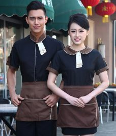 Dong phuc quan cafe GLU CF303 may áo quán cafe