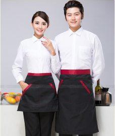 Dong phuc quan cafe GLU CF305 may áo quán cafe