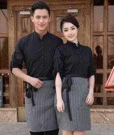 Dong phuc quan cafe GLU CF306 may áo quán cafe